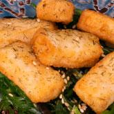 Receta de tempura de salmón con eneldo